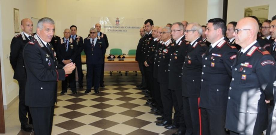 Il Generale dei carabinieri Giovanni Cataldo in visita al comando provinciale di Caltanissetta