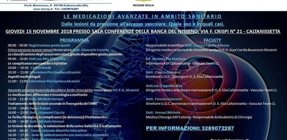 """""""Le medicazioni avanzate in ambito sanitario"""": alla Banca del Nisseno un evento organizzato dalla FOReIP"""