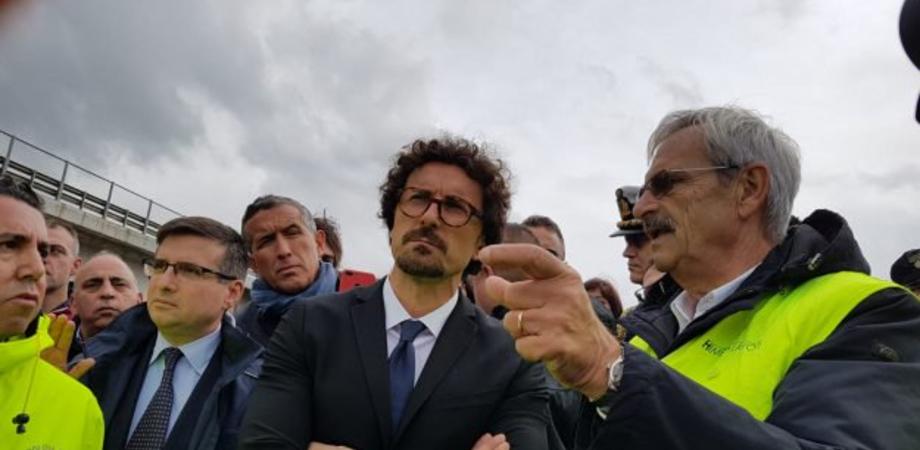 Caltanissetta, Toninelli visita la Ss640: