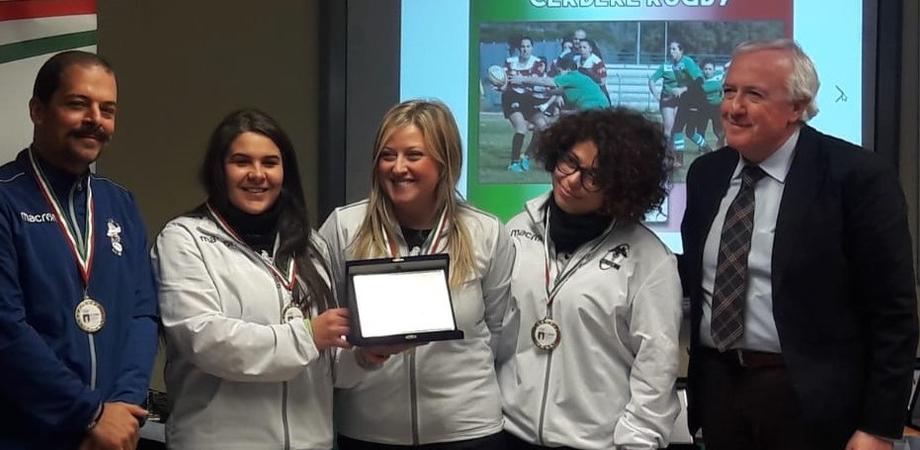 """Caltanissetta, premio Coni per le Cerbere: """"Ambasciatrici dei valori del rugby"""""""