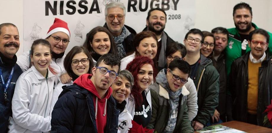 Nissa Rugby, Natale in Meta fra gioia, giochi e divertimento. Presentato calendario dell'Associazione Persone Down