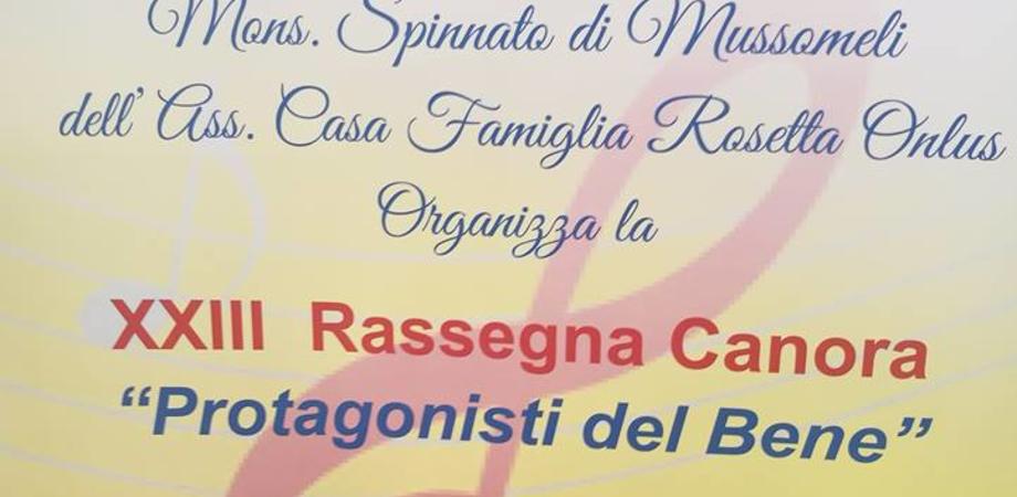 """A Mussomeli la XXIII rassegna canora """"Protagonisti del bene"""""""