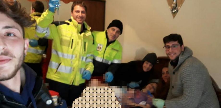 Marianopoli bloccata dalla neve: giovane mamma partorisce in casa. Benvenuta alla piccola Miriam