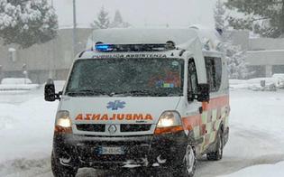 Gela, anziana di Butera muore su un'ambulanza bloccata per la neve