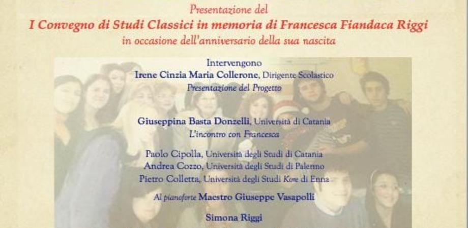 Caltanissetta, convegno di studi in memoria dell'insegnante di latino e greco Francesca Fiandaca Riggi