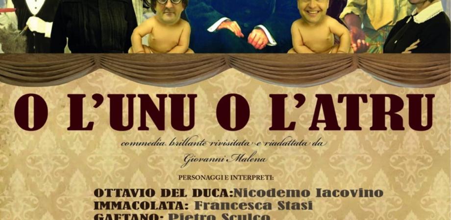 """Caltanissetta, al teatro Oasi della Cultura di scena """"O uno o l'altro"""" della compagnia Krimisa"""