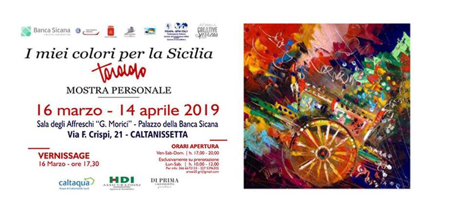 """A Caltanissetta si inaugura la mostra """"I miei colori per la Sicilia"""" del maestro Todaro"""