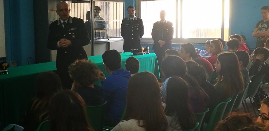 Mussomeli, l'Arma dei Carabinieri entra nelle scuole per parlare di legalità