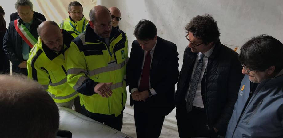 """Il premier Conte a Caltanissetta: """"La Ss 640 sarà completata entro il 2020"""""""