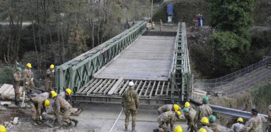 Frana sulla Sp 38 Mussomeli - Caltanissetta: martedì inizieranno i lavori per il montaggio del ponte Bailey