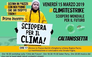 Caltanissetta aderisce allo Sciopero Mondiale per il Futuro e il Clima: il programma