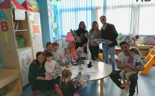 Caltanissetta, uova di cioccolata ai bimbi ricoverati all'ospedale Sant'Elia da parte del team Aliotta