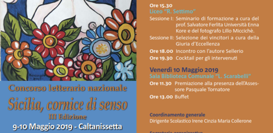 """""""Sicilia, cornice di senso"""", il 10 maggio la premiazione: il concorso letterario ha attratto studenti provenienti da diverse parti d'Italia"""