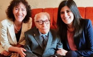 Compie 110 anni ed esprime un desiderio: tornare in Sicilia. Musumeci lo invita