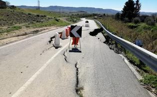 Frana tra Mazzarino e Barrafranca, l'Anas pronta ad intervenire per ripristinare il manto stradale