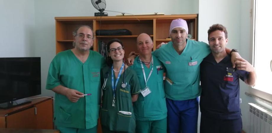 Caltanissetta, al reparto di Cardiologia del Sant'Elia impiantato il primo defibrillatore sottocutaneo senza fili