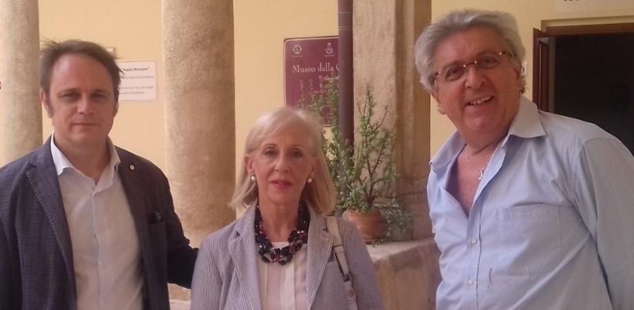 La sovrintendente ai beni culturali ed ambientali di Caltanissetta visita il museo civico di Niscemi