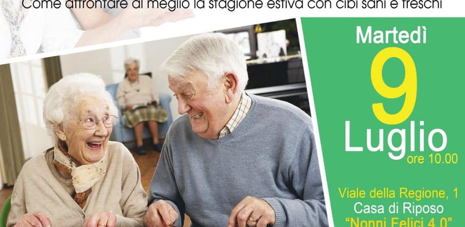 """I cibi estivi per i """"nonni felici"""". All'Istituto Testasecca di Caltanissetta un incontro con la nutrizionista Carla Sillitti"""