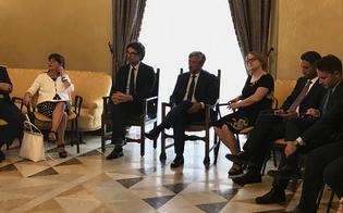 Il ministro per le infrastrutture Toninelli a Palazzo del Carmine. Il sindaco Gambino: