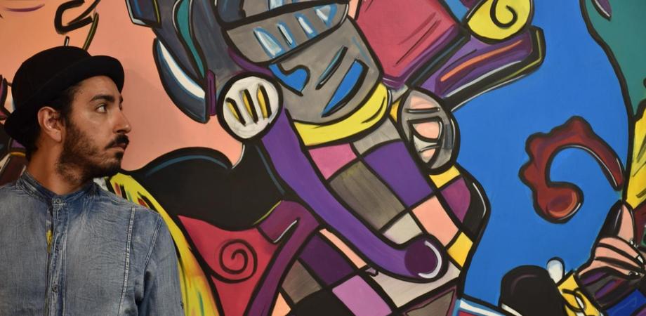 Caltanissetta, live painting del pittastorie nisseno Lorenzo Ciulla: confronto fra artisti e pubblico