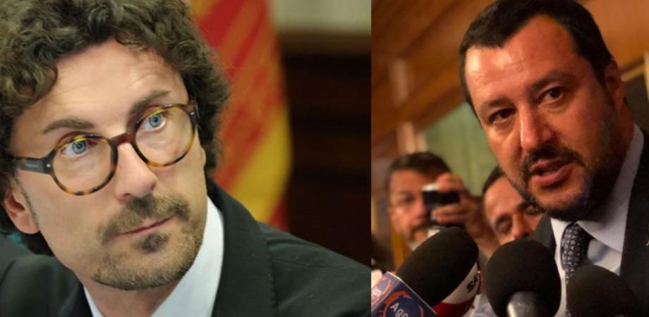 """Il ministro Toninelli da Caltanissetta replica a Salvini: """"Io blocco i cantieri? Come dire che lui non blocca le Ong"""""""