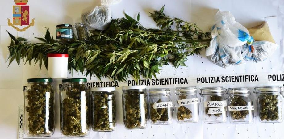 Caltanissetta. Marijuana, hashish e ketamina nella sua villetta: arrestato 32enne dalla Squadra Mobile