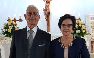 Caltanissetta, nozze di diamante per Angelo e Carmela: dopo 60 anni di matrimonio sono tornati a promettersi amore eterno