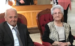 Nozze di Ferro per Francesco e Maria, oggi a San Cataldo hanno celebrato il loro settantesimo anniversario