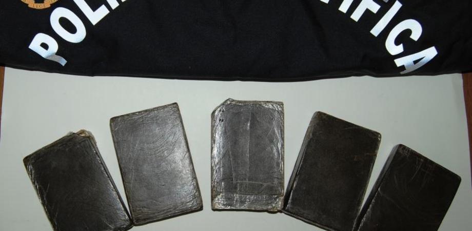 Gela. Cinque panetti di hashish occultati nello zaino. Due arresti in flagranza dalla Polizia di Stato