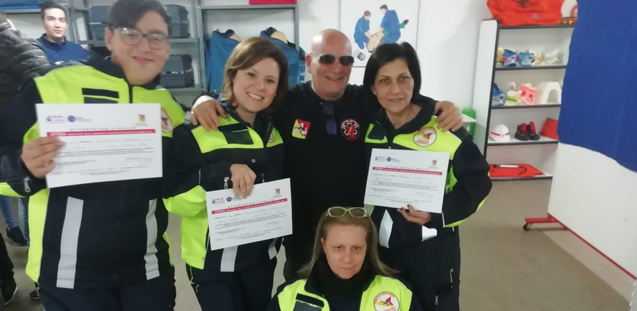 Gela, assistenza Trinacria Emergency: corso concluso per quattro nuovi volontari