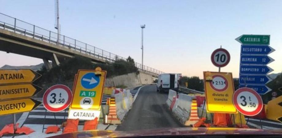 Autostrada Palermo-Catania, manutenzione straordinaria: da giovedì chiuso lo svincolo di Resuttano