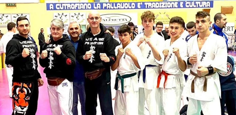 """Gli atleti della """"Power Gym"""" di San Cataldo tutti sul podio al torneo nazionale di Karate Kyokushinkai"""