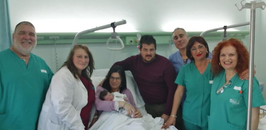 Caltanissetta, Giorgia è la prima nata del 2020: fiocco rosa all'ospedale Sant'Elia