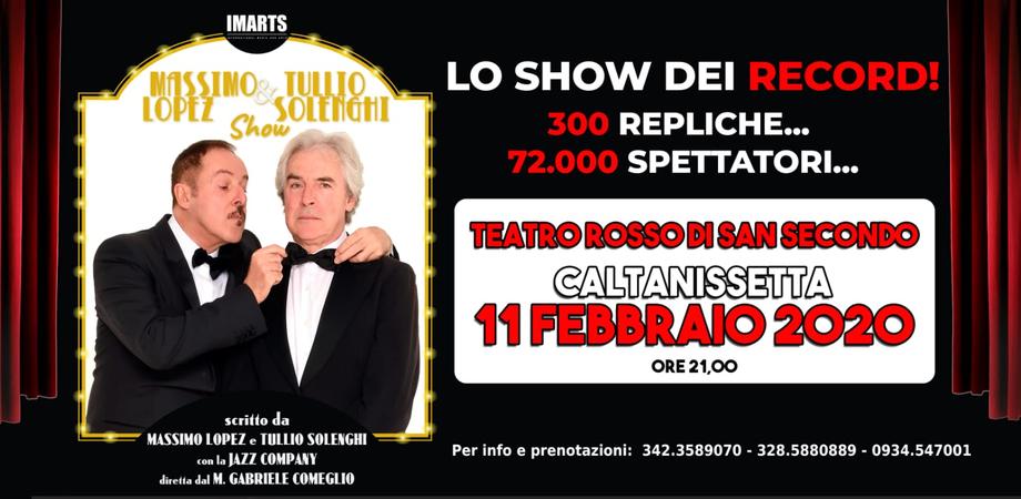 Massimo Lopez e Tullio Solenghi a Caltanissetta, show al teatro Rosso di San Secondo