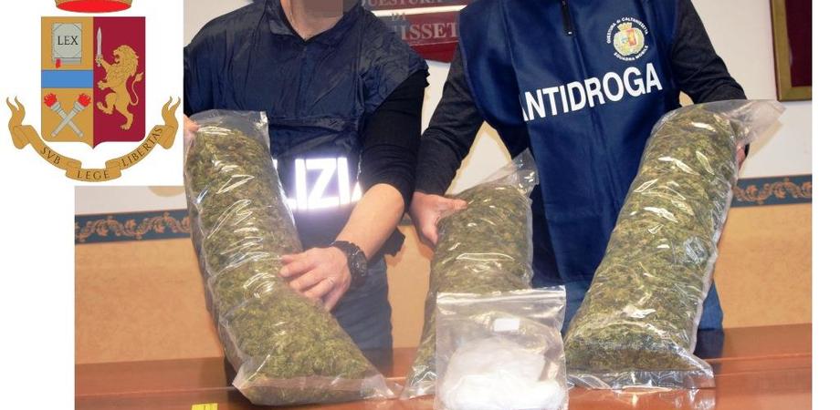 Caltanissetta. Cerca di fuggire alla vista dei poliziotti, in auto nascondeva oltre 3 chili di marijuana e cocaina: arrestato