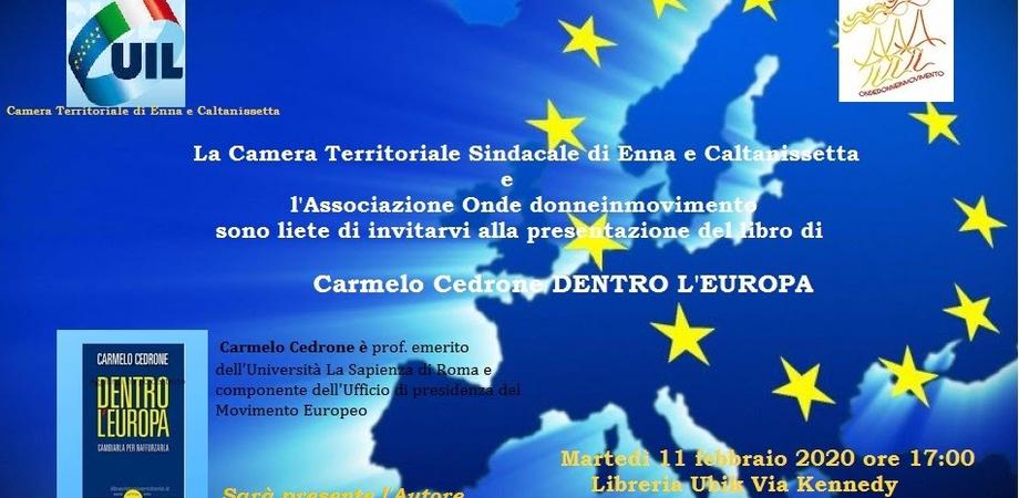 """""""Dentro l'Europa"""", incontro a Caltanissetta dedicato ai giovani e alla costruzione del loro futuro"""