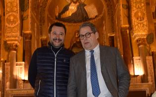 Miccichè accoglie Salvini a Palazzo Reale: