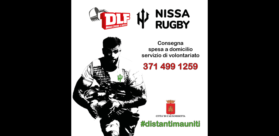 """DLF Nissa Rugby in """"campo"""" per Caltanissetta: consegna gratuita della spesa con un minibus"""