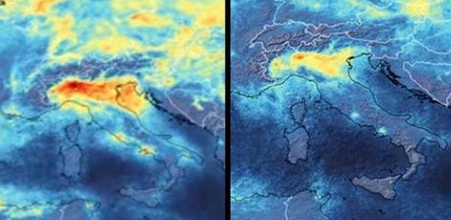 Effetto coronavirus: l'aria diventa più respirabile. I satelliti rivelano una netta diminuzione dell'inquinamento sul Nord Italia
