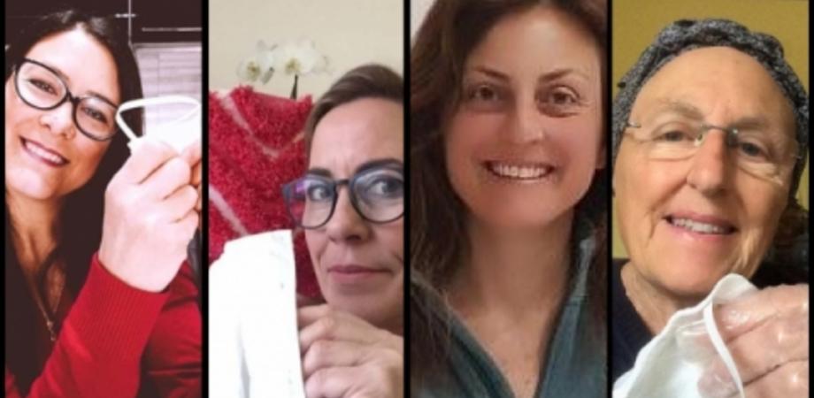 """""""Le sarte del cuore"""", a Caltanissetta quattro donne producono mascherine gratuitamente"""