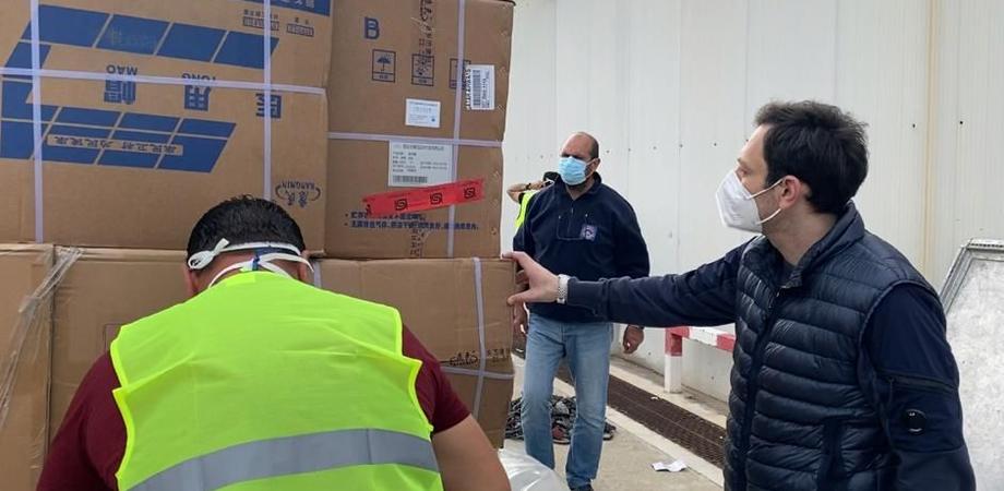 Coronavirus: arrivate in Sicilia altre 56 tonnellate di materiale acquistato dalla Regione