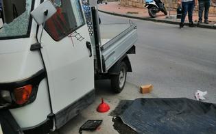 Caltanissetta, perde il controllo dell'Ape e si schianta contro il muro: conducente ferito
