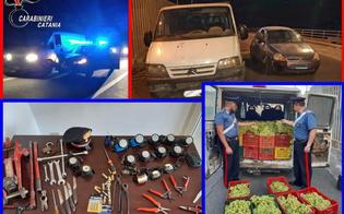 Fuga in auto con 3 tonnellate d'uva rubata: inseguite e arrestate 6 persone nel catanese