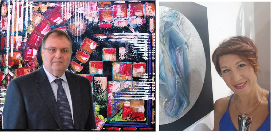 Gli artisti sancataldesi Filippo Chiappara e Ivana Urso al decimo contest del Movimento Pentastrattista