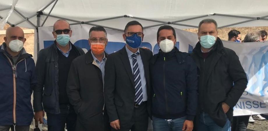 """""""Siamo servitori, non servi"""", delegazione della Fsp polizia di Caltanissetta alla manifestazione di Roma"""