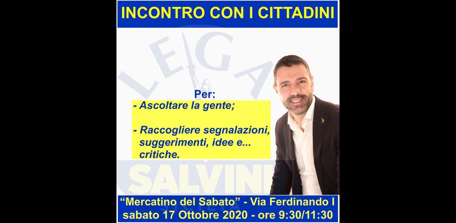 """Caltanissetta, Aiello (Lega): """"Sabato al Mercatino incontrerò ed ascolterò la gente""""."""