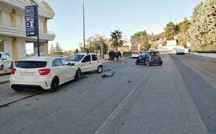 Caltanissetta, incidente in viale Luigi Monaco: tre feriti trasportati al Sant'Elia