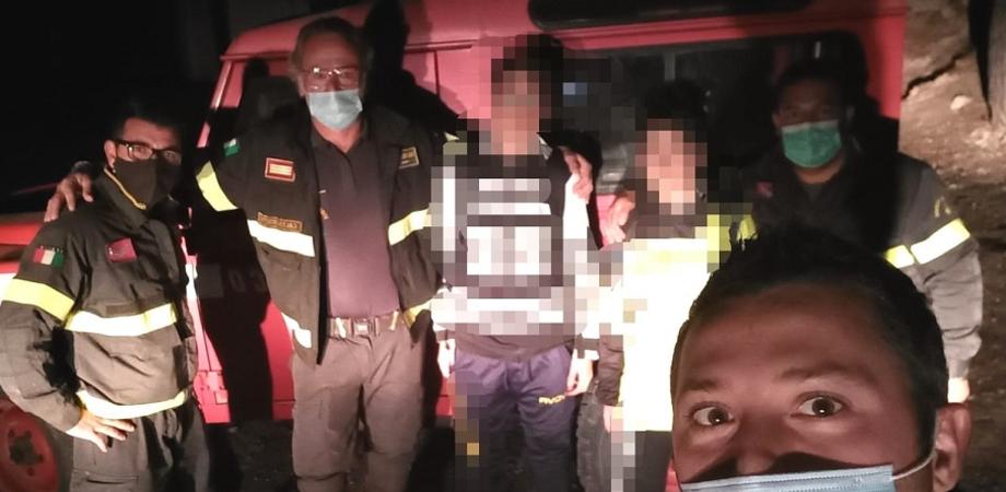 San Cataldo, due ragazzini escono in bicicletta e si perdono nel bosco: trovati dai vigili del fuoco grazie al telefono