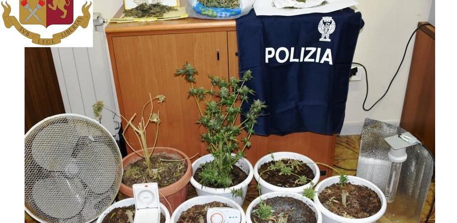 Marijuana coltivata in casa, arrestati per spaccio due fratelli di Niscemi: uno è minorenne