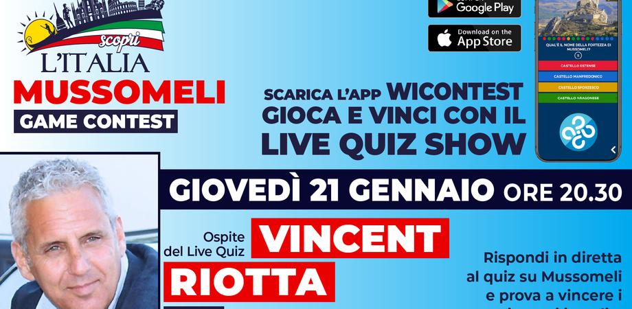 """""""Mussomeli Game Contest"""", tra gli ospiti anche l'attore internazionale Vincent Riotta"""